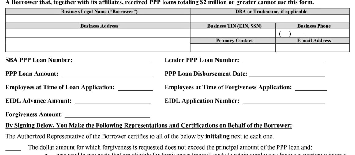 SBA Update for PPP Loans